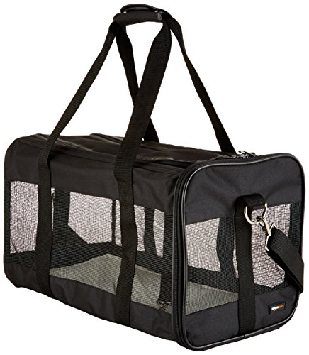 AmazonBasics Large Soft-Sided Mesh Pet Transport Carrier Bag - 20 x 10...