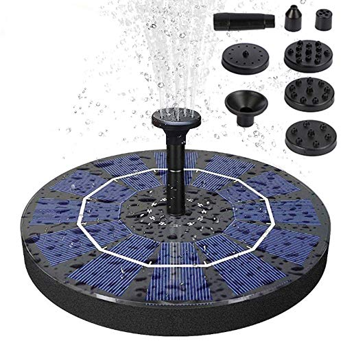 Sammiu Verbesserte 3W Solar Springbrunnenpumpe Solar Teichpumpe Höhere Effizienz Solar Springbrunnen Freistehend für Vogelbad, Garten, Hinterhof und kleinen Teich