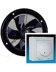 Uzman-Versand Industriële wandventilator met toerentalregelaar, axiaal, wandventilator, metalen ventilator, inbouwventilator, axiale ventilator, wandventilator, wandventilator, wandventilator, ventilator