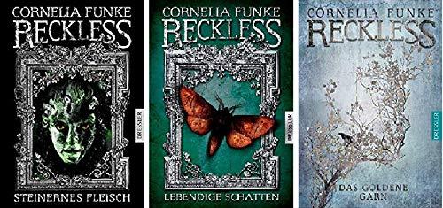 Geschenkidee Reckless Reihe von Cornelia Funke 1. Steinernes Fleisch & 2. Lebendige Schatten & 3. Das goldene Garn