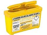 SharpsGuard CUbo, 1litro, amarillo, Pack de 2