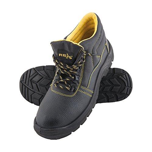 REIS Sicherheitsschuhe BRYES-T S3 36-50 Leder Arbeitsschuhe Schnürschuhe Lederschuhe Sicherheitsschuhe Halbschuhe Größe 50