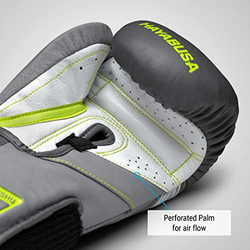 Hayabusa T3 Boxing Gloves for Men and Women - Charcoal/Lime, 14oz