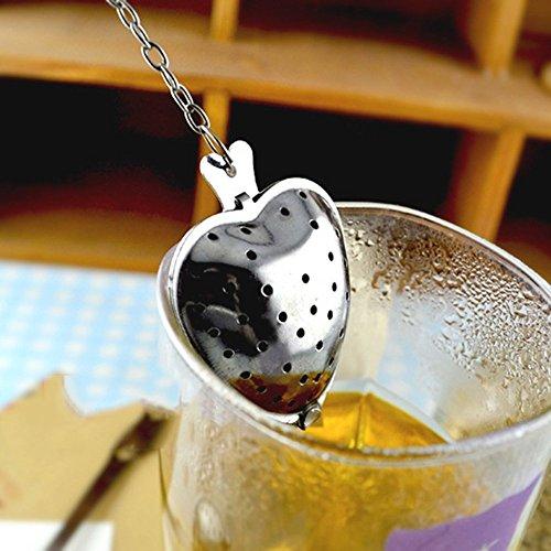 Tea Infusers Set of 2 Strainer for Tea Heart Shaped Tea Infuser