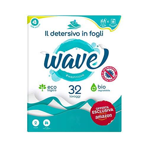 Wave Washing – Classic Box – El detergente en hojas – 32 lavados – Ecológico – Biodegradable