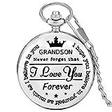 Ich Liebe Dich personalisierte Silberne Taschenuhr Quarz Anhänger Taschenuhr Vintage Souvenir Collection Geburtstagsgeschenke Silber