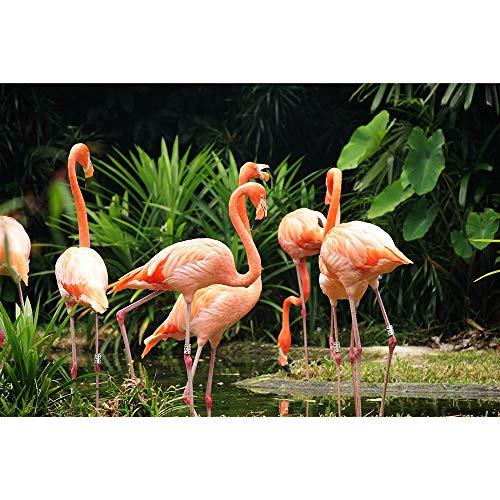 Puzzle Jigsaw Pink Flamingo Animal Series Adulto Niño Madera 500/1000/1500/2000 Pieza Creativa del Regalo De Cumpleaños De Descompresión del Juguete 1219 (Size : 1500 Pieces)