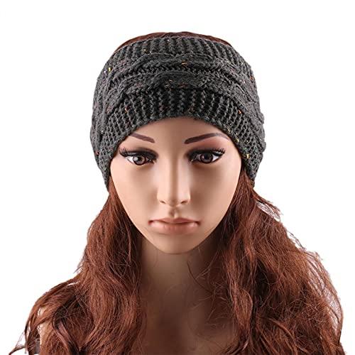ROKTUD Headbands for Women Women Hair Accessories Protected Keep Warm Knitting Handmade Turban Head Wrap Non-Slip Hair Bands for Sport Yoga and Running Headband