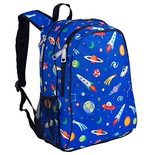 Wildkin 15 Inch Backpack, Extra Durable Backpack with Padded Straps and Interior Moisture-Resistant Lining, Perfect for School or Travel, Olive Kids Design – Out of This World by Wildkin