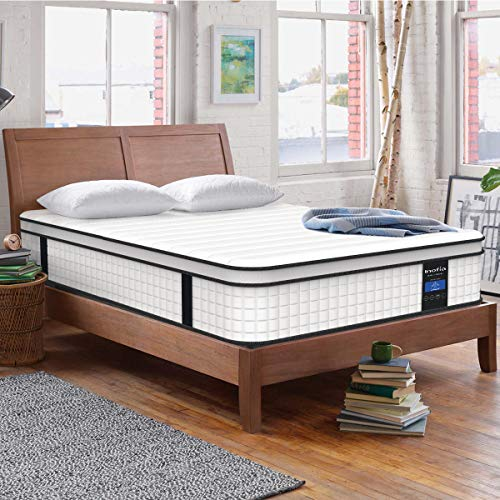 Inofia Full Mattress,10 Inch Memory Foam and Innerspring Hybrid Mattress in a Box, Breathable Comfortable Mattress, Supportive & Pressure Relief, Full Size