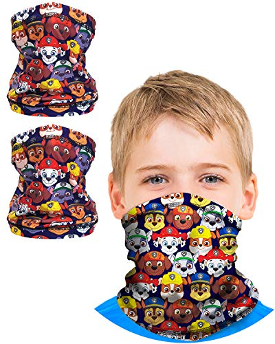'Nickelodeon Boys Paw Patrol Gaiter Face Mask with UV Sun Protection (2 Pack), Size 4-14, Paw Patrol'