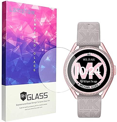 SkyBand [3 Pack Protector] 9H Protector De Pantalla De Cristal Templado Compatible para Reloj Inteligente Michael Kors Connected Smartwatch Gen 5E MKGO (3 Pack)