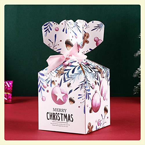 MANRS - Caja de papel para manzanas de Navidad, 30 unidades, diseño de dibujos animados, caja de regalo de manzana