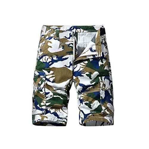 serliy Herren Shorts Kurze Hose Herren Cargo Shorts Bermuda Short Herren Sweatshort Sportshorts Freizeit Laufen Lässige Camouflage