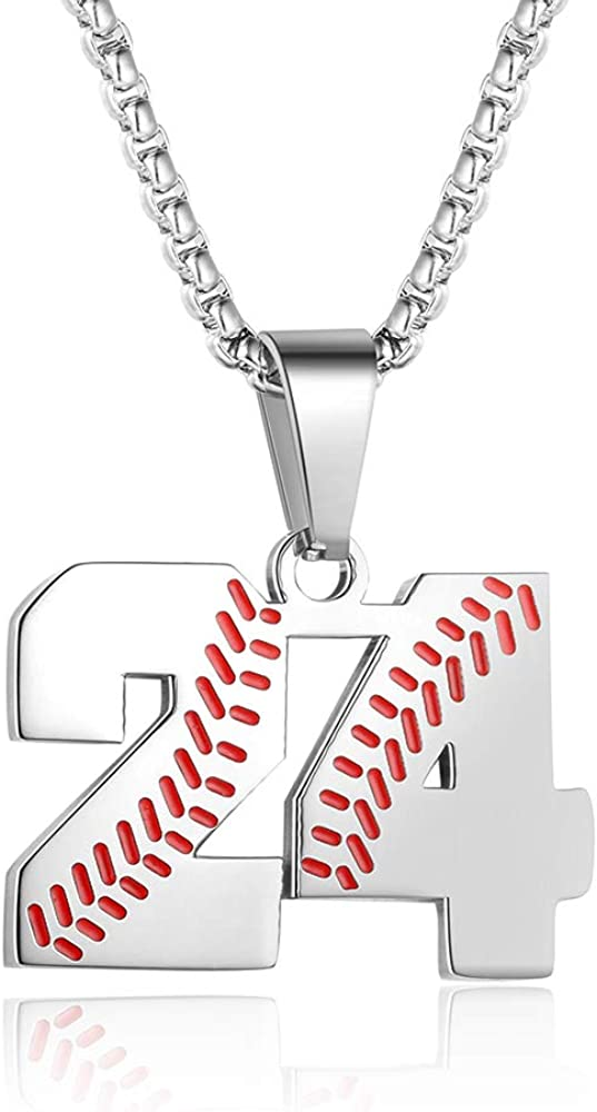 Direct Outstanding stock discount TLIWWF Inspiration Baseball Jersey Ste Stainless Number Necklace