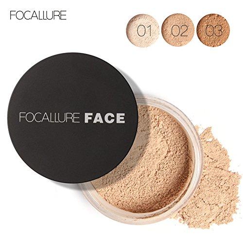 3 Types Focallure Nouveau Visage Huile Contrôle Anti-sueur Maquillage Longue Durée Lâche Poudre Cosmétique(3#)