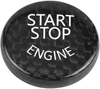 Car Engine Start Stop Button Switch Cover Trim Black Carbon Fiber Ignition Key Ring Sticker for 1/2/3/4/5//6/7Series X1 X3 X4 X5 X6