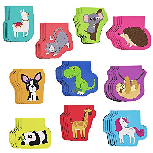 Bright Creations Kids Magnetic Animal Bookmarks (50 Pack) 10 Designs
