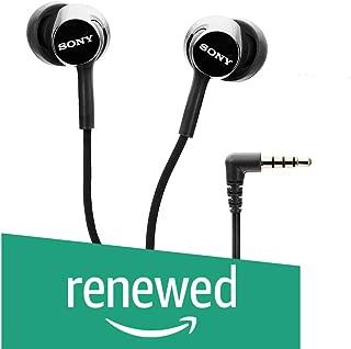 (Renewed) Sony MDR-EX150AP in-Ear Headphones with Mic (Black)
