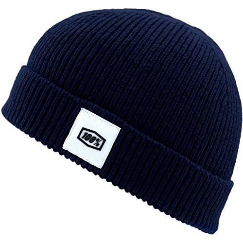 100% Riot Cuff Manschetten Mütze, Erwachsene, Blau