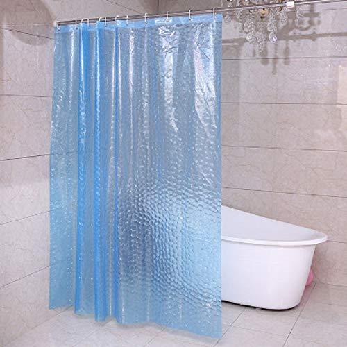 Sanfo Duschvorhänge 3D Wasserwürfel Duschvorhang Transparent 100prozent Eva-Material Wasserdicht Anti Schimmel, 180 x 200cm mit Ringe Badvorhang für Badezimmer