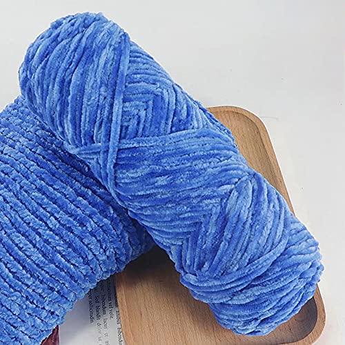 Lana gruesa de felpilla suave y gruesa para tejer, tejido de ganchillo, lana de ganchillo de color sólido para gorros, bufandas, suéter