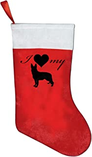 FQWEDY Love My German Shepherd Christmas Stockings Holiday Home Parties Decorations