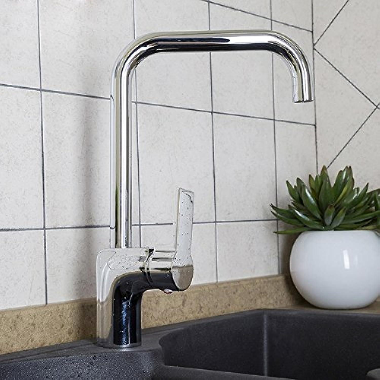 Bijjaladeva Wasserhahn Bad Wasserfall Mischbatterie Waschbecken Waschtisch Armatur für BadKüche Wasserhahn Voll Kupfer Kitchen Sink Dish Waschbecken Warmes und Kaltes Rotary Mixer