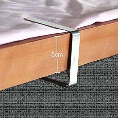 12pcs Tischdeckenklammern Edelstahl Tischklammern Tischtuch Clips Größer Tischdeckenbeschwerer für Tischplatten bis 50 mm