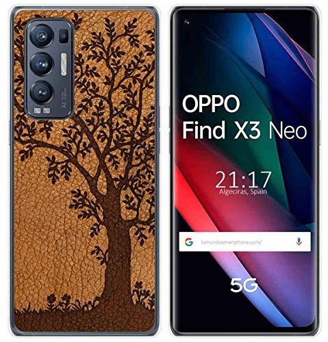 Funda Gel TPU para OPPO Find X3 Neo diseño Cuero 03 Dibujos