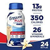 Ensure Plus Nutrition Shake with Fiber, 13g High-Quality Protein, Meal Replacement Shakes, Vanilla,...