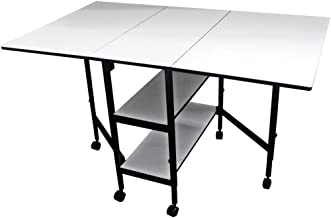 Sullivans 38431 Home Hobby Adjustable Height Foldable Table, 59 x 35.8