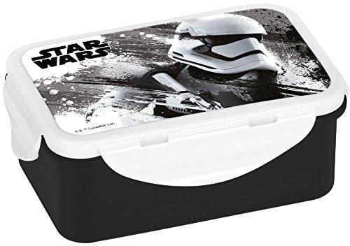 Star Wars Caja para Pan, Pan, Mono, Mono, PP, Color Blanco/Negro, 16x 10,5x 6,5cm,