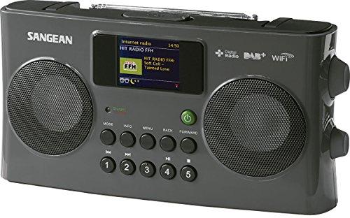 Sangean WFR-29C tragbares Internetradio (DAB+/UKW-Tuner, USB, UPnP/DMR Music Streaming, AUX-In, Weckfunktion, Dual Alarm) anthrazit
