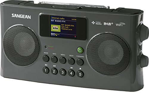 Sangean WFR-29C tragbares Internetradio (DAB+/UKW-Tuner, USB, UPnP/DMR Music Streaming, AUX-In, Weckfunktion, Dual Alarm) anthrazit