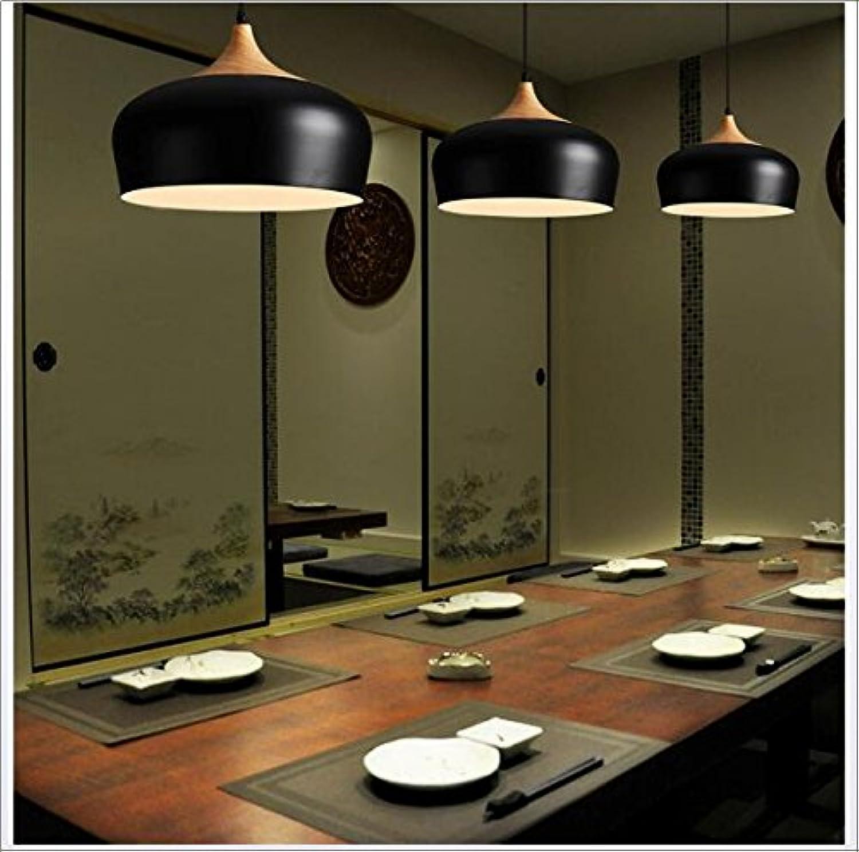 SSLW Einfache Persnlichkeit Lampen Kronleuchter Nordic Massivholz Aluminium Kreative Beleuchtung,schwarz
