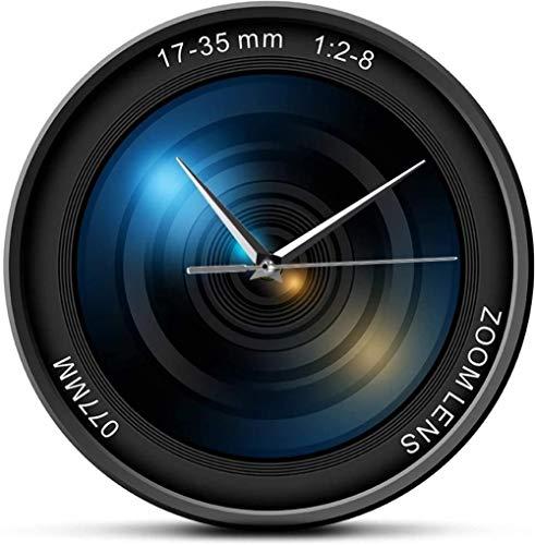 Reloj De Pared Reloj De Pared Arte Lente De Cámara Reloj De Pared De Acrílico Impreso Fotografía Zoom Fotografía En Color Exposición Iso Reloj De Pared Moderno Personalizado Camarógrafo Regalo Habitac
