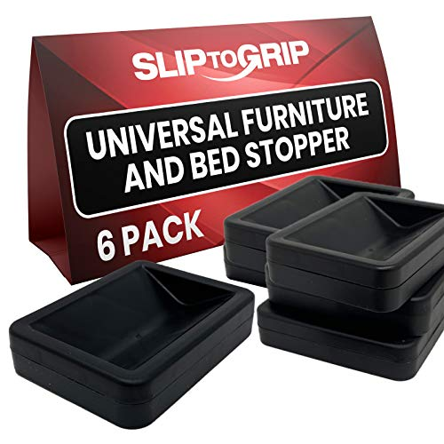 SlipToGrip Bed and Furniture Stopper 6 Black