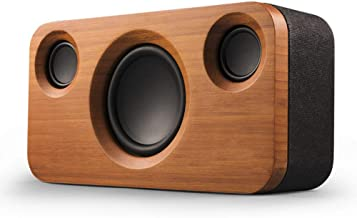 YLJYJ 30W Bluetooth Speakers, Dual-Driver Wireless Bluetooth Home Bamboo Wood Stereo Speaker with 20W HD Sound, 10W Subwoofer, Bold Bass, Long Playtime for Dot, iPhone, Samsung, iPad