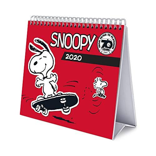 Erik® - Calendario da tavolo 2020, 17x20 cm - Snoopy