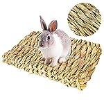 Bolonbi Lot de 2 lits à mâcher pour animaux en herbe tissée naturelle pour lapin, cochon d'Inde, perroquet, lapin, hamster, rat #3