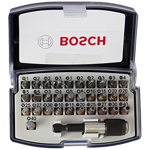 Bosch Professional Set da 32 Pezzi di bit di avvitamento, bit avvitamento duri, accessori trapano avvitatore e avvitatore