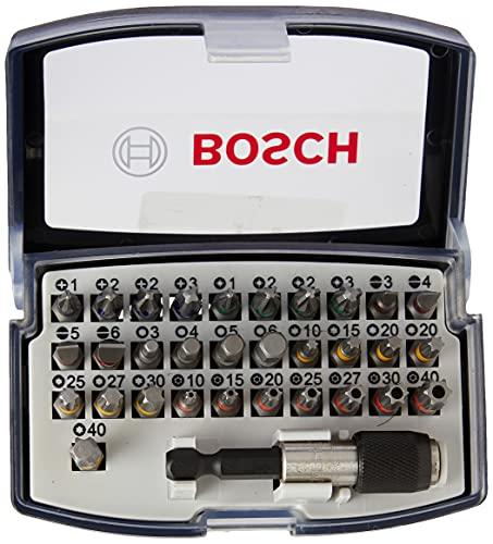 Bosch Professional Set de 32 unidades para atornillar (accesorios para taladro atornillador)