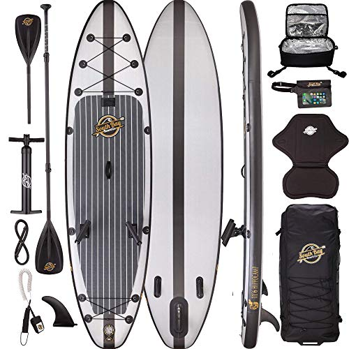 Premium Inflatable Stand Up Paddle Board Package - 11'6 Hippocamp Fishing ISUP (Renewed)