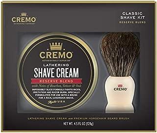 Cremo Shave Cream & Brush Set - 4.5 fl oz, pack of 1