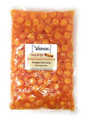 Yankee Traders Brand Butterscotch Buttons Wrapped Candy, 4 Pound