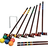Franklin Sports Outdoor Croquet Set - 6 Player Croquet Set with Stakes, Mallets, Wickets, and Balls - Backyard/Lawn Croquet Set - Intermediate