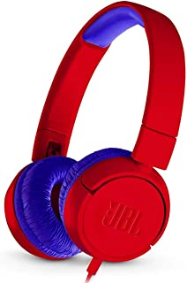 JBL On-Ear Wired Headphone For Kids, Red - JBLjr300Red