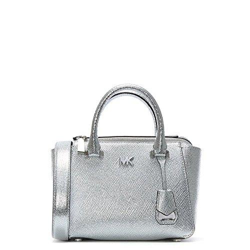 Michael Kors Nolita Mini Silber Leder Schultertasche Tasche Silver Leather