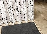 Liedeco Duschvorhang Perle | 180 x 200 cm | schwarz/weiß